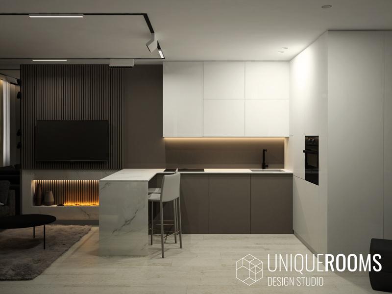 Дизайн студии в ЖК Триколор